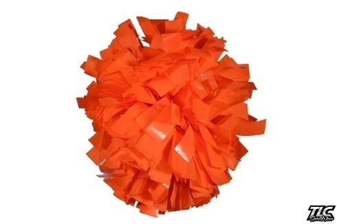 Orange Wetlook Cheerleading Pom Pom