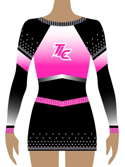 Pink Sublimation Cheerleading Uniform