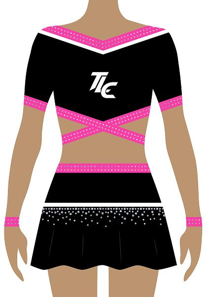 Pink Cheerleading Uniform