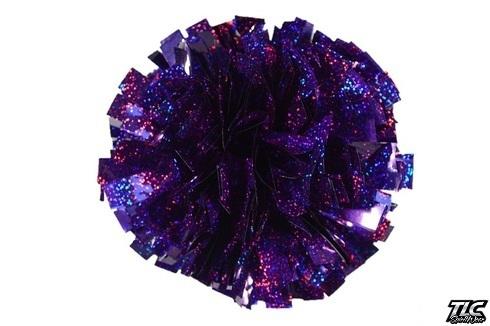 Purple Hologram Cheerleading Pom Pom