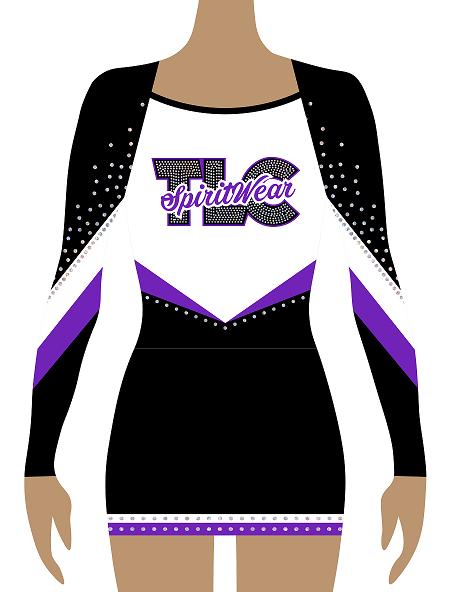 Purple Lycra Cheerleading Uniform