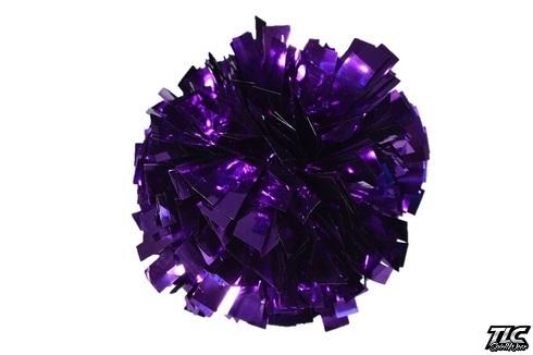 Purple Metallic Cheerleading Pom Pom