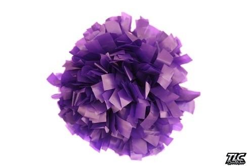 Purple Plastic Cheerleading Pom Pom