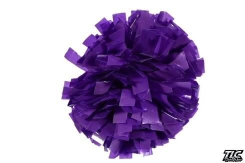 Purple Wetlook Cheerleading Pom Pom