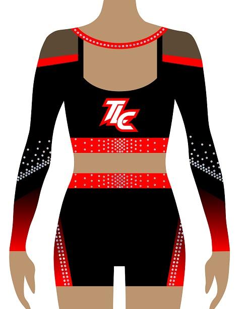 Red Cheerleading Uniform