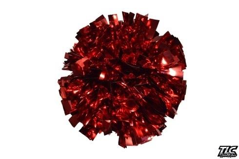 Red Metallic Cheerleading Pom Pom