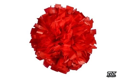 Red Plastic Cheerleading Pom Pom
