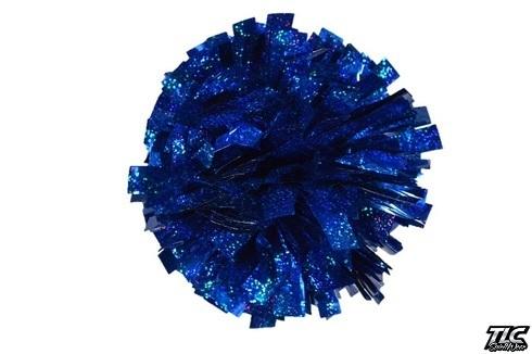 Royal Blue Hologram Cheerleading Pom Pom