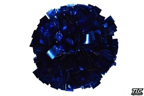 Royal Blue Metallic Cheerleading Pom Pom