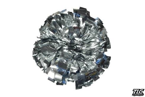 Silver Metallic Cheerleading Pom Pom