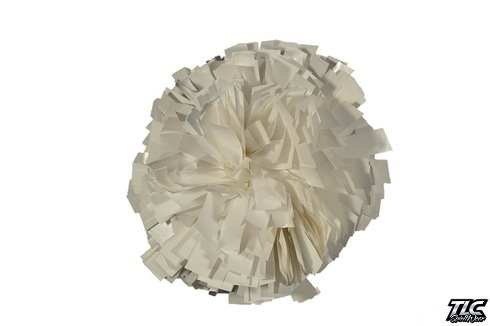 White Metallic Cheerleading Pom Pom