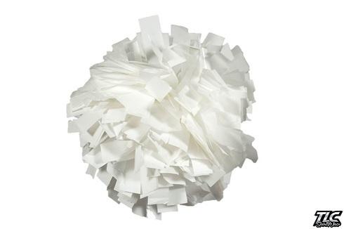 White Wetlook Cheerleading Pom Pom