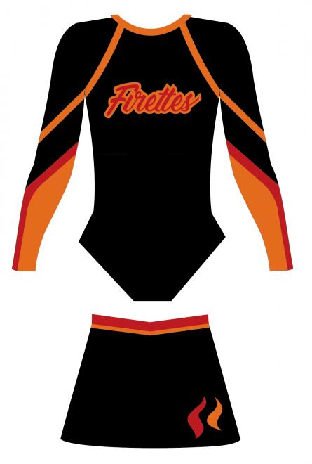 Fire Townsville Basketball Cheerleading Uniforms
