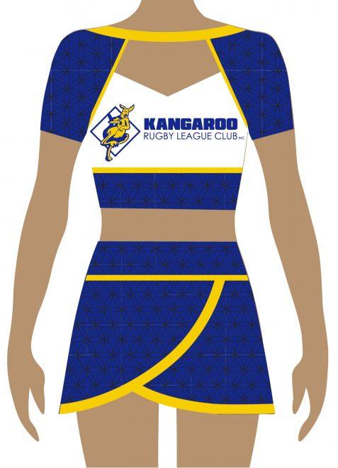 Kangaroo Rugby Cheerleading Team